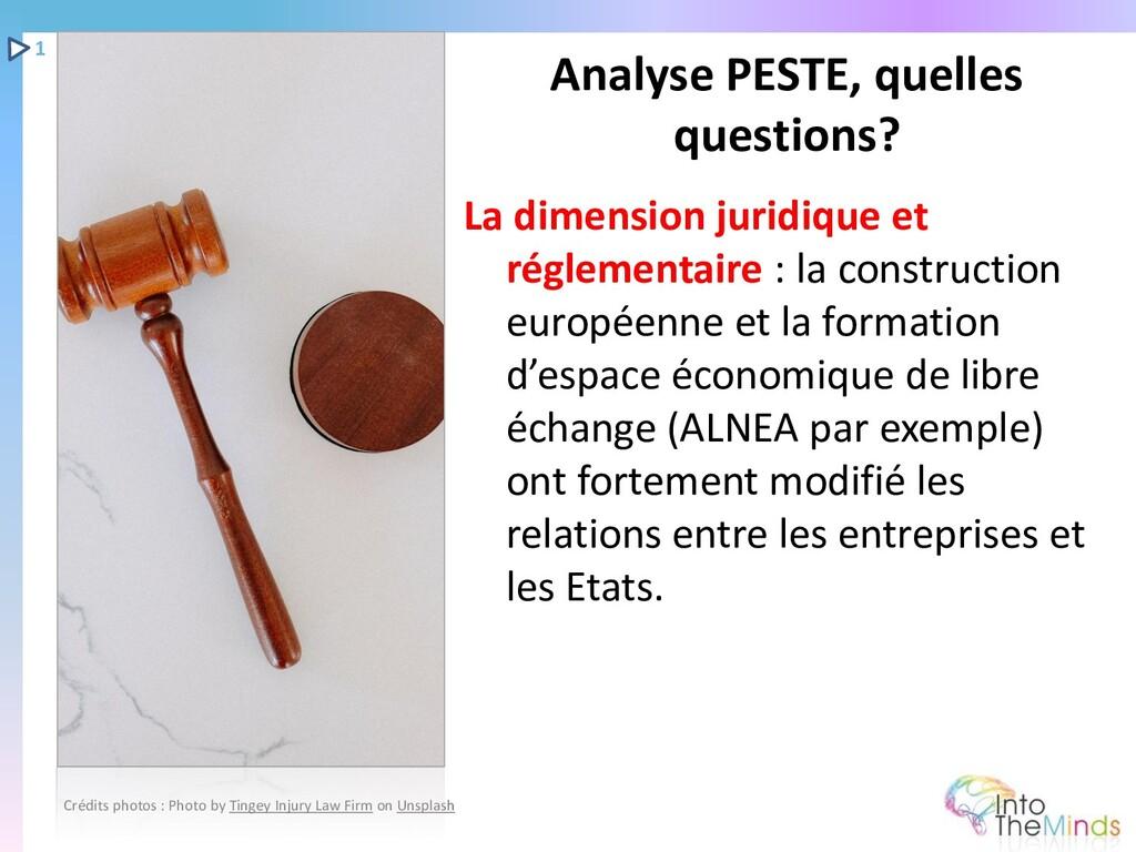 La dimension juridique et réglementaire : la co...