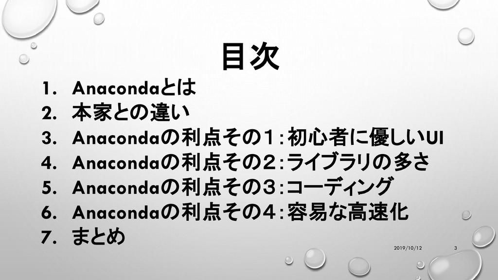 目次 1. Anacondaとは 2. 本家との違い 3. Anacondaの利点その1:初心...