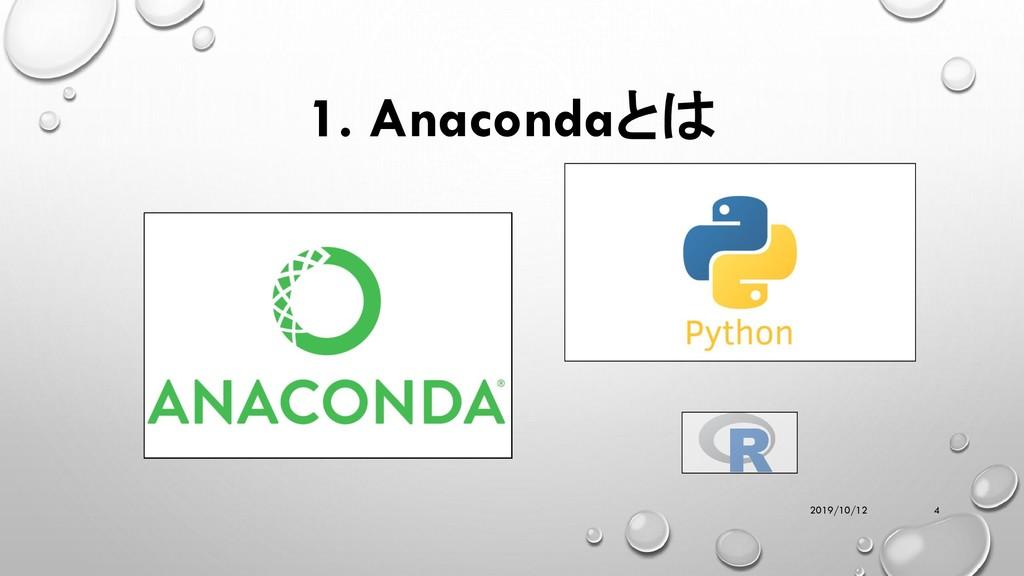 1. Anacondaとは 2019/10/12 4