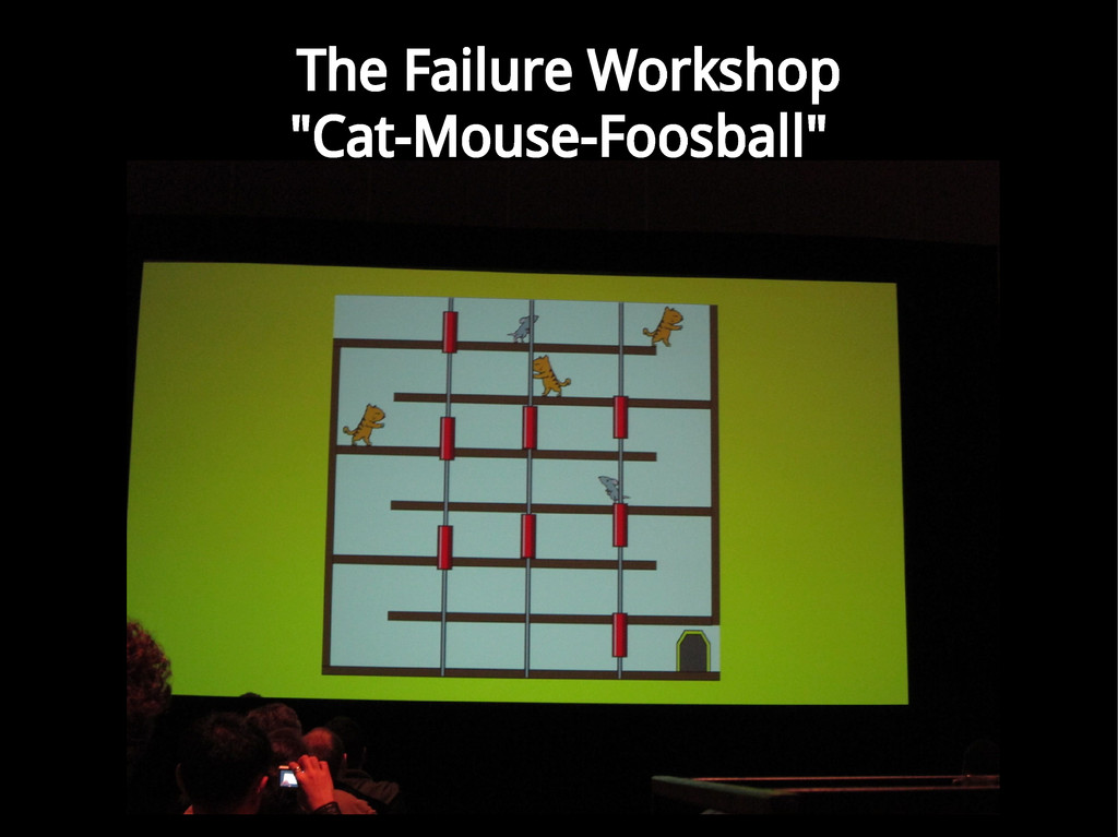 "The Failure Workshop ""Cat-Mouse-Foosball"""