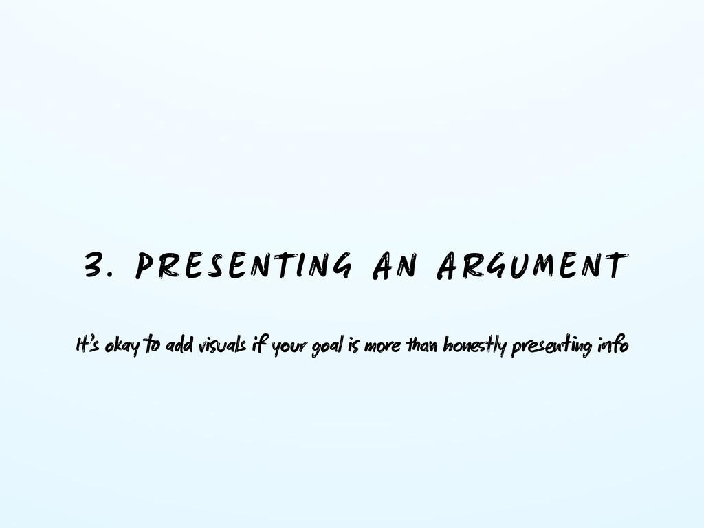 3. PRESENTING AN ARGUMENT It's okay  a vuals...