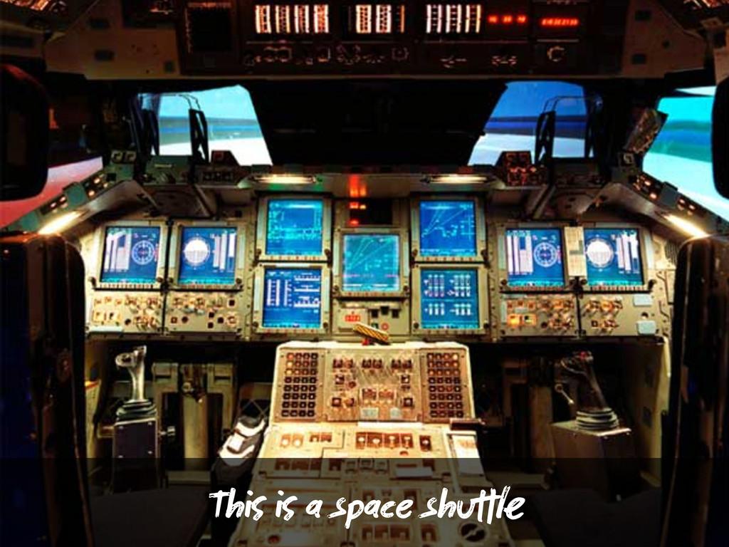 Th  a space shu