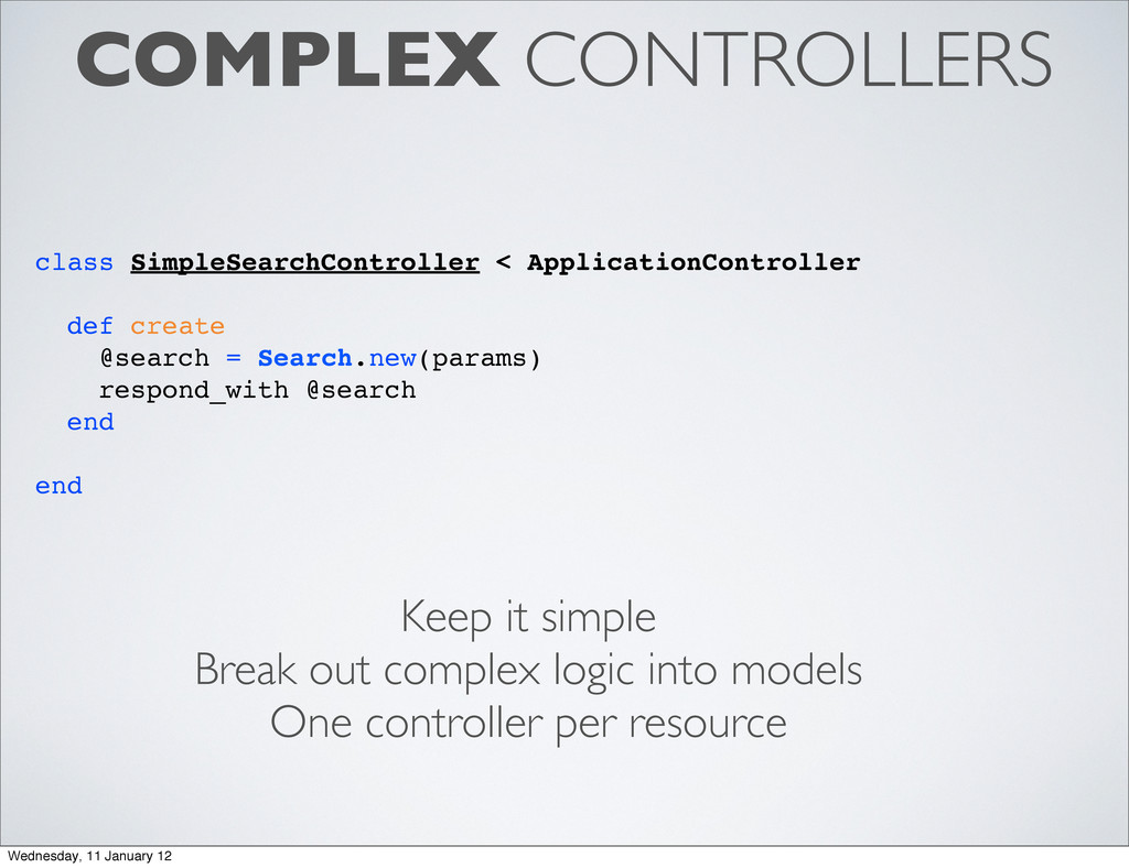 COMPLEX CONTROLLERS class SimpleSearchControlle...