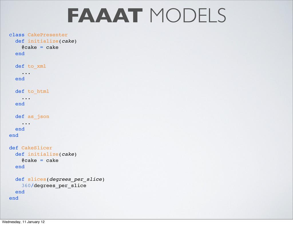 FAAAT MODELS class CakePresenter def initialize...