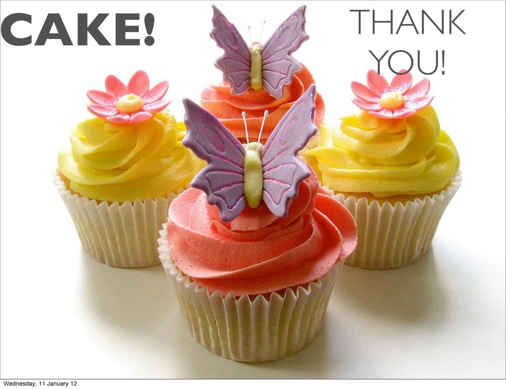 CAKE! THANK YOU! Wednesday, 11 January 12