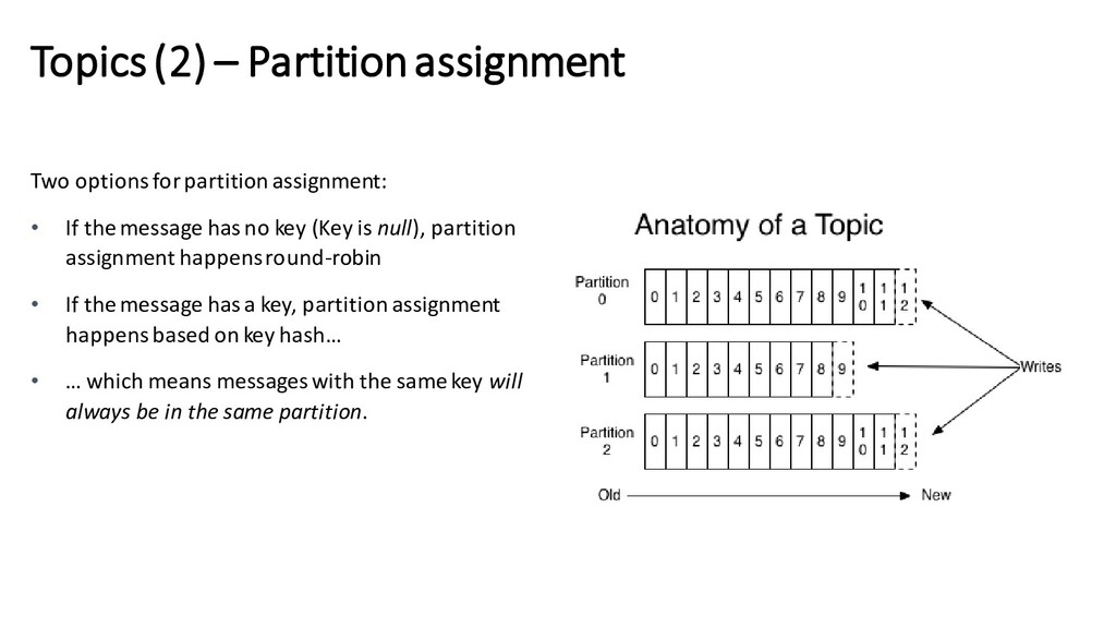 Topics (2) – Partition assignment Two options f...
