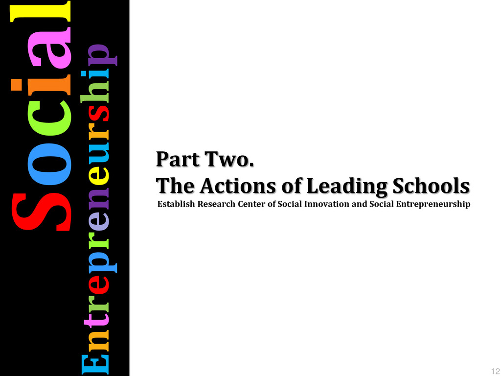 Part Two. The Actions of Leading Schools Establ...