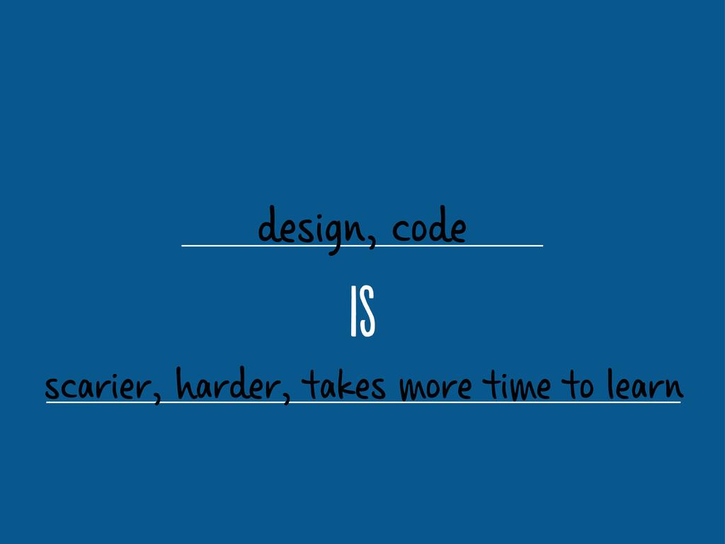 design, code i scarier, harder, takes more tim...