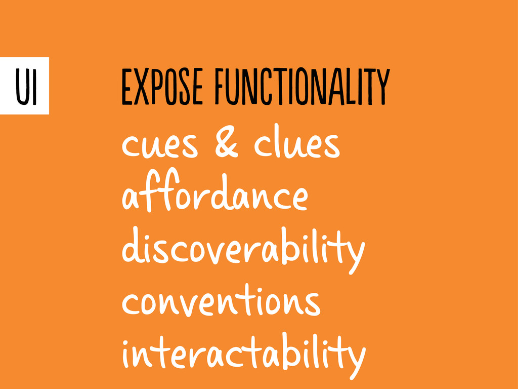 cues & clues afordance discoverability convent...
