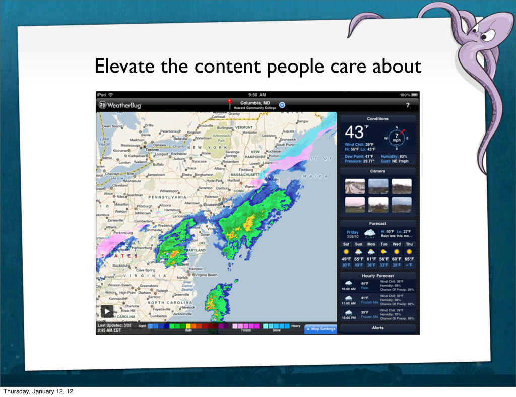 Elevate the content people care about Thursday,...