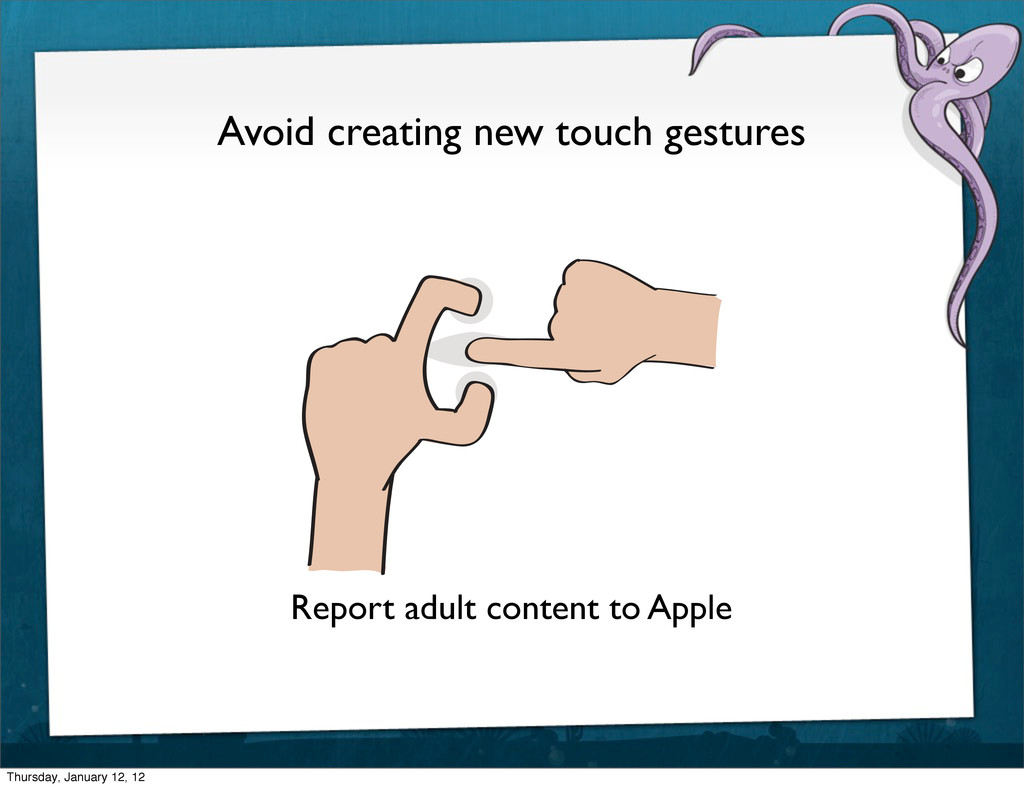 Avoid creating new touch gestures Report adult ...