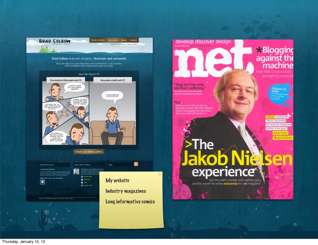 My website Industry magazines Long informative ...