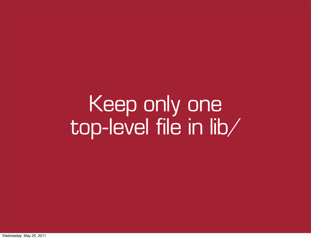 Keep only one top-level file in lib/ Wednesday,...