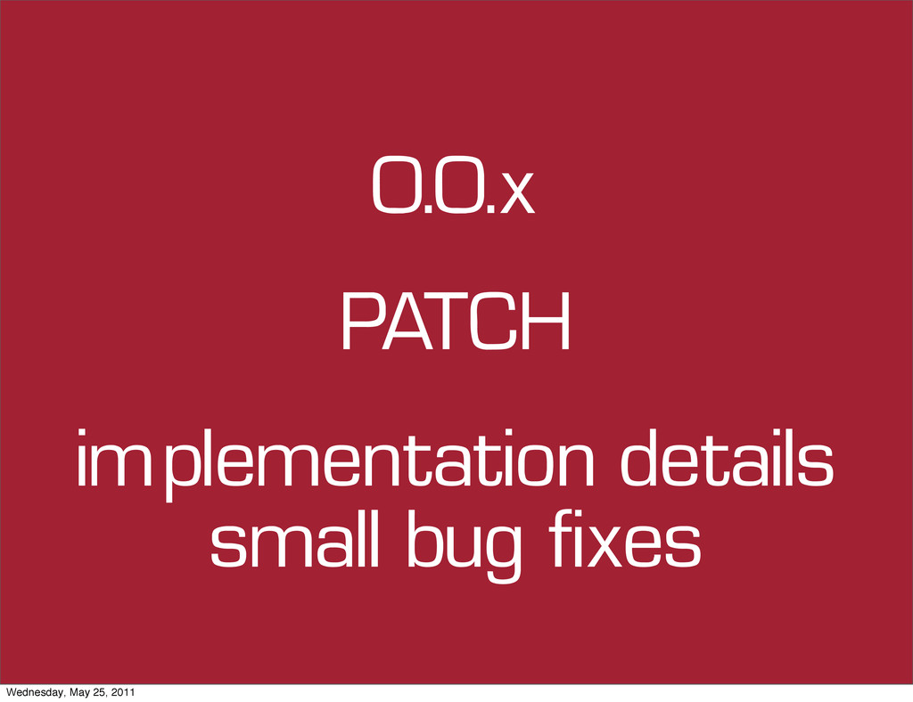 0.0.x implementation details small bug fixes PA...
