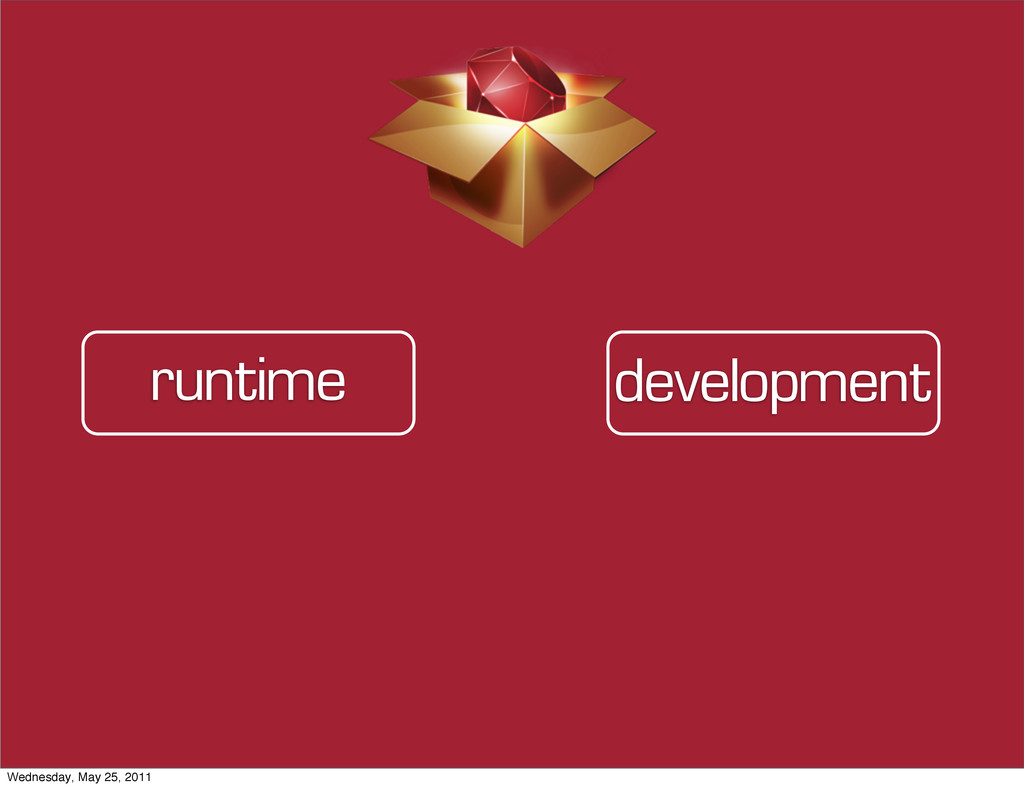 development runtime Wednesday, May 25, 2011