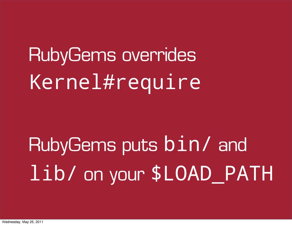RubyGems overrides Kernel#require RubyGems puts...