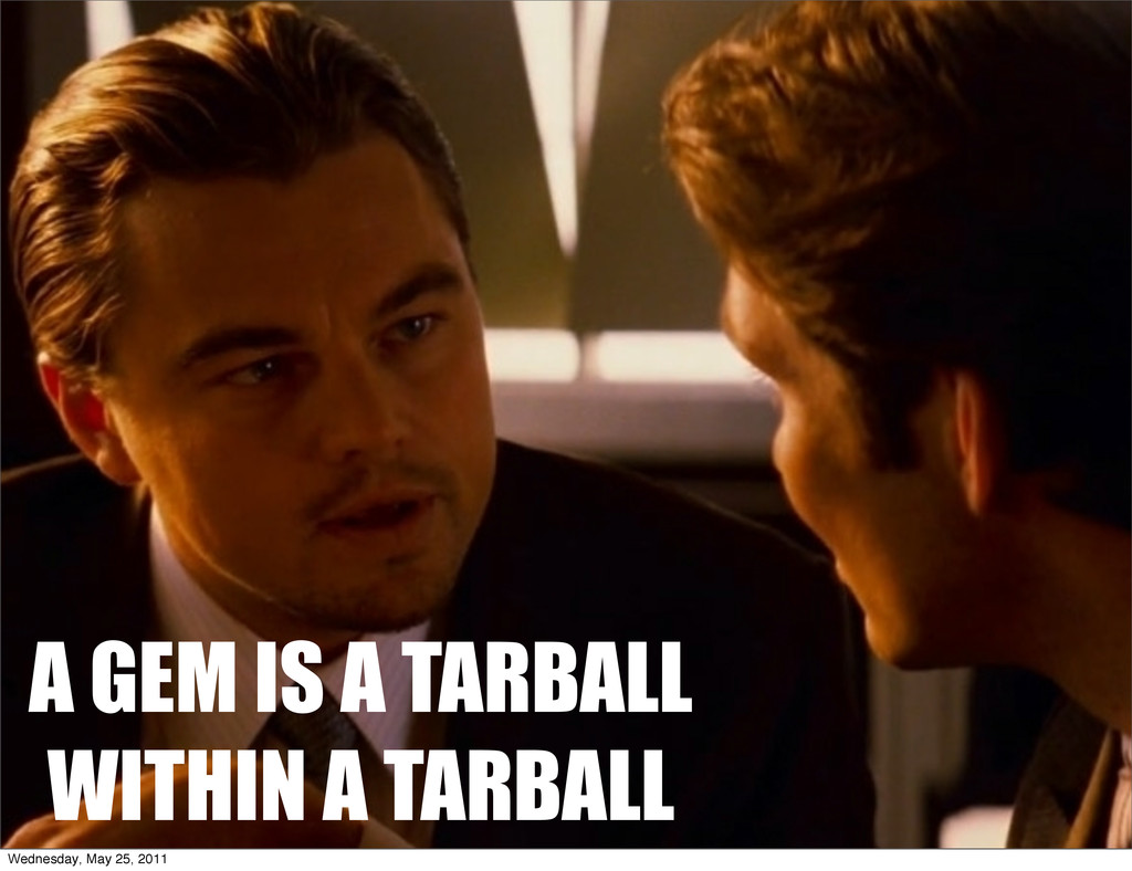 A GEM IS A TARBALL WITHIN A TARBALL Wednesday, ...