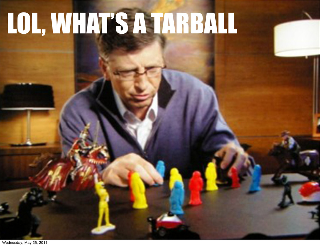 LOL, WHAT'S A TARBALL Wednesday, May 25, 2011