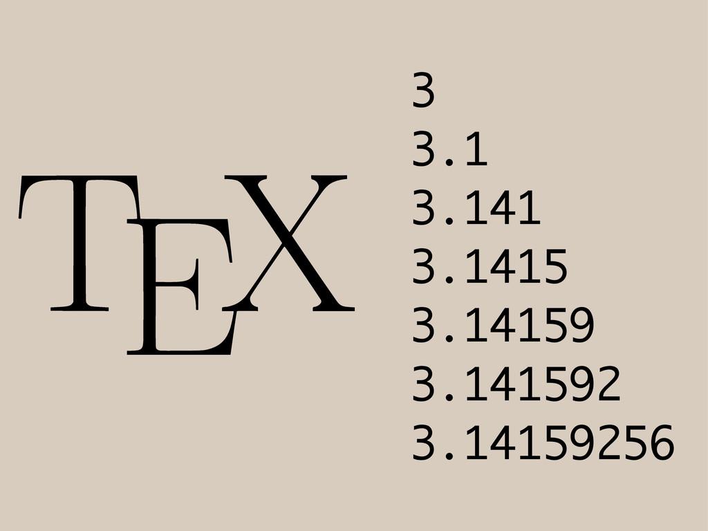 3 3.1 3.141 3.1415 3.14159 3.141592 3.14159256