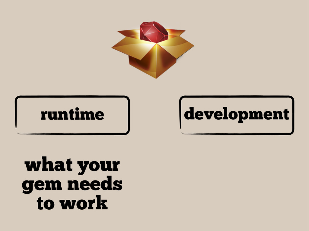 runtime development what your gem needs to work