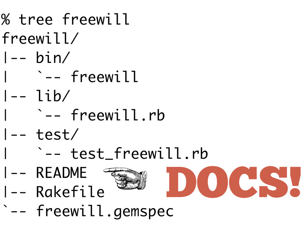 % tree freewill freewill/ |-- bin/ | `-- freewi...