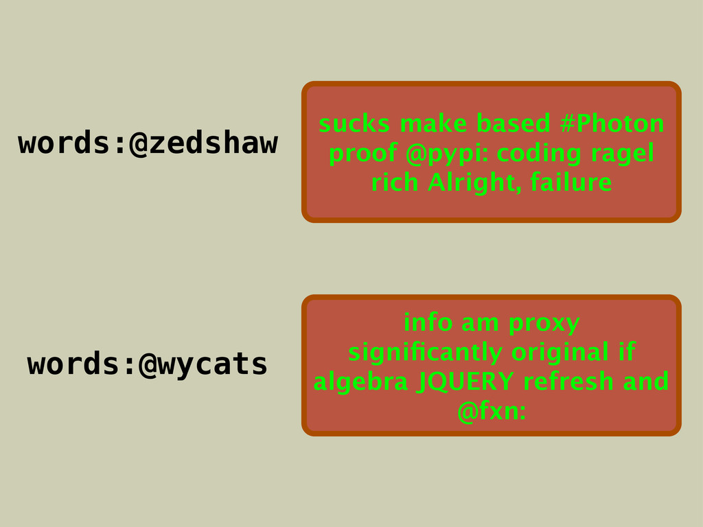 RPUSH words:@zedshaw sucks make based #Photon p...