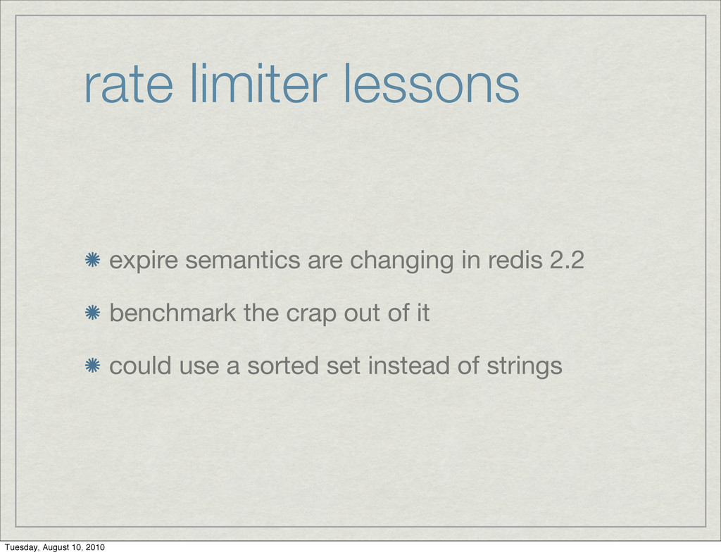 rate limiter lessons expire semantics are chang...