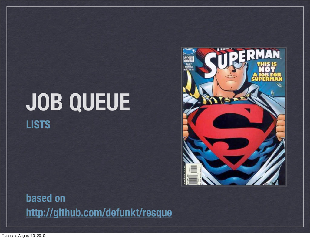 JOB QUEUE LISTS based on http://github.com/defu...