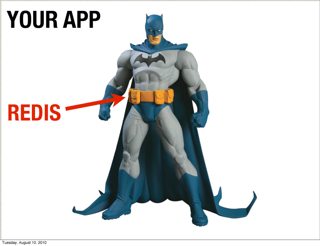YOUR APP REDIS Tuesday, August 10, 2010