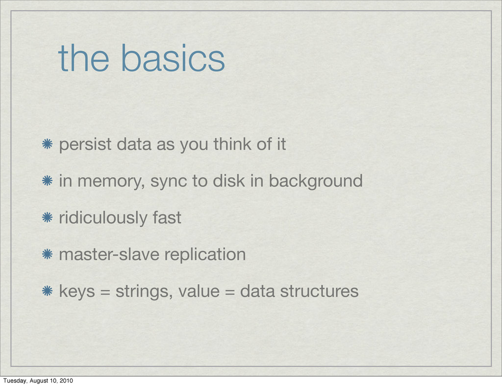 the basics persist data as you think of it in m...