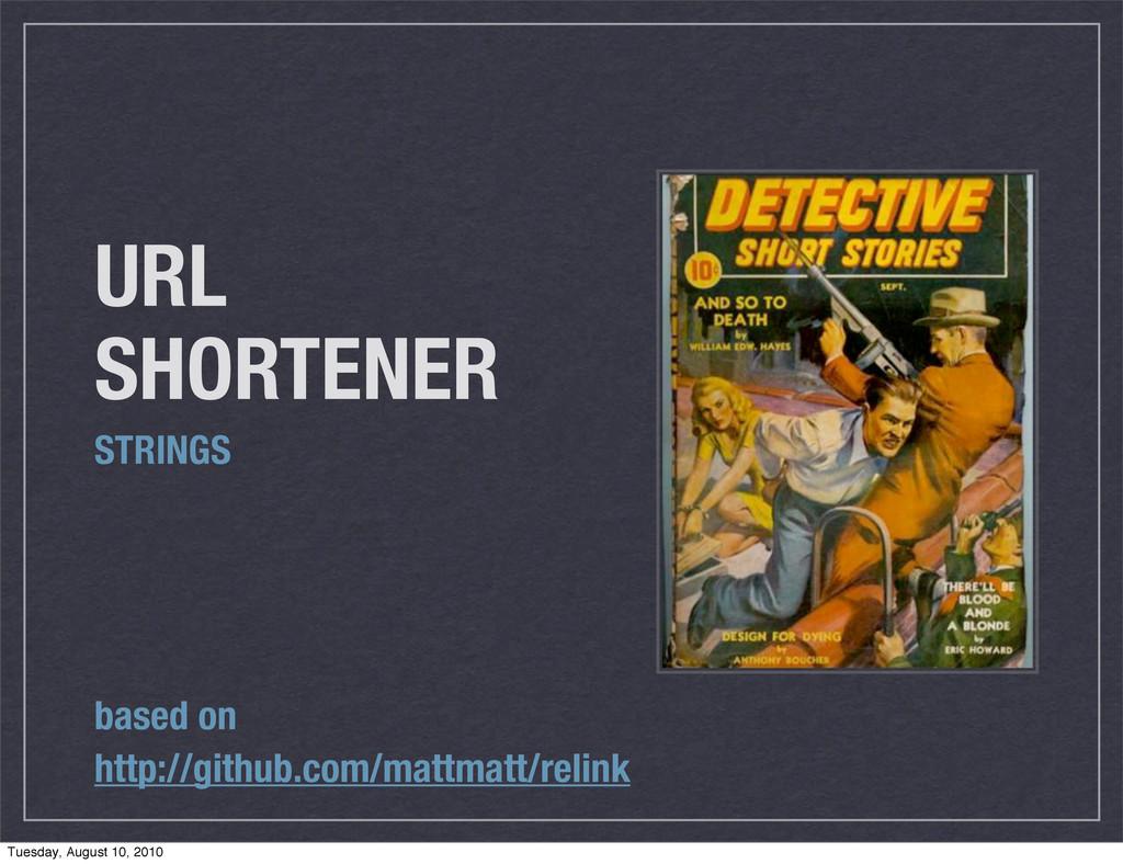 URL SHORTENER STRINGS based on http://github.co...