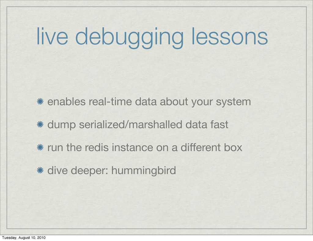 live debugging lessons enables real-time data a...