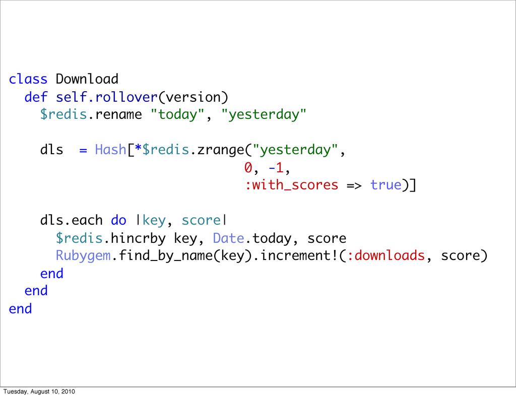 class Download def self.rollover(version) $redi...