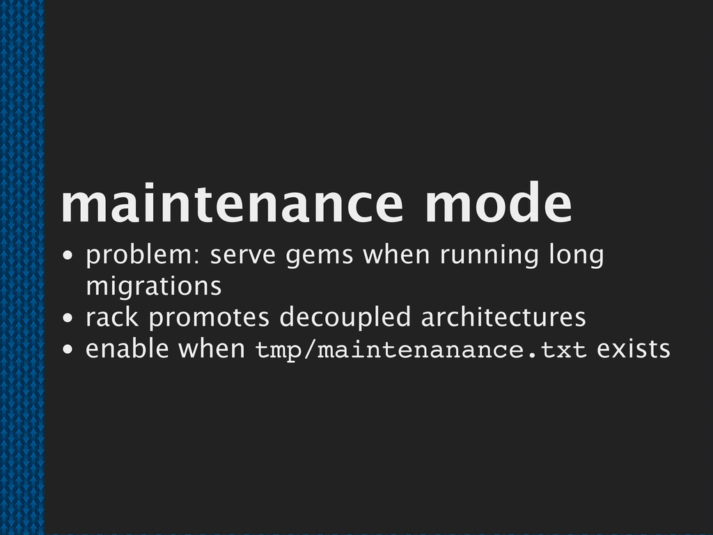 maintenance mode problem: serve gems when runni...
