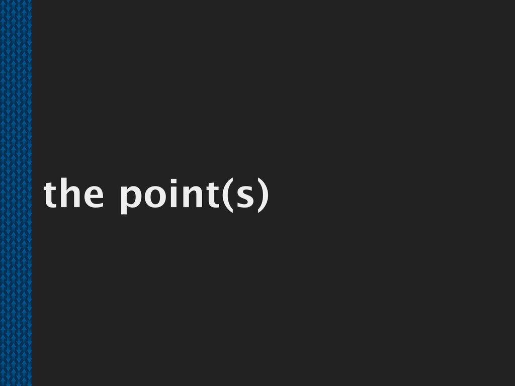 the point(s)