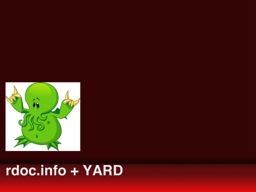 rdoc.info + YARD