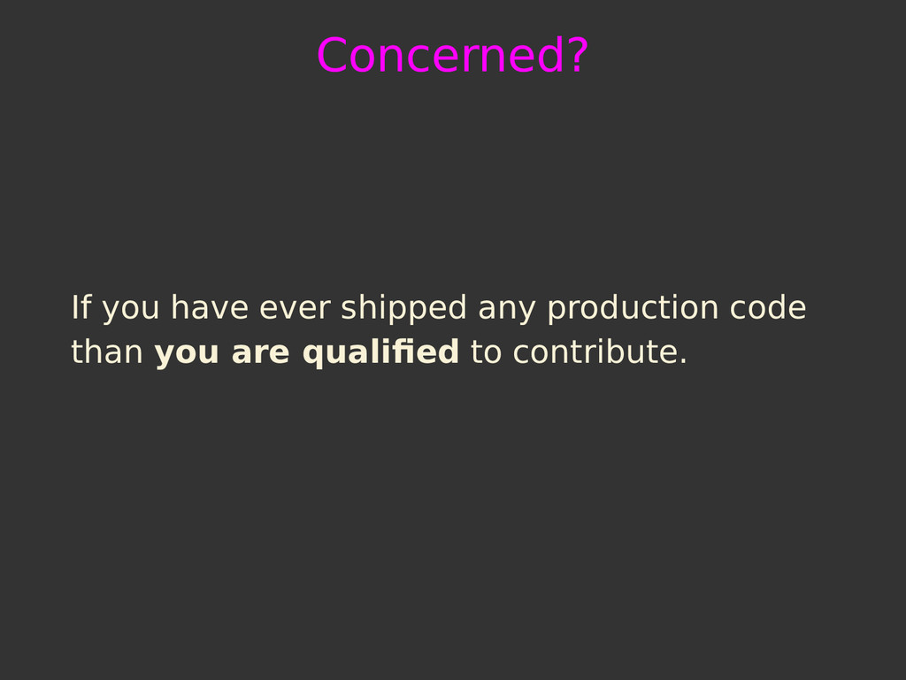 Concerned? If you have ever shipped any product...