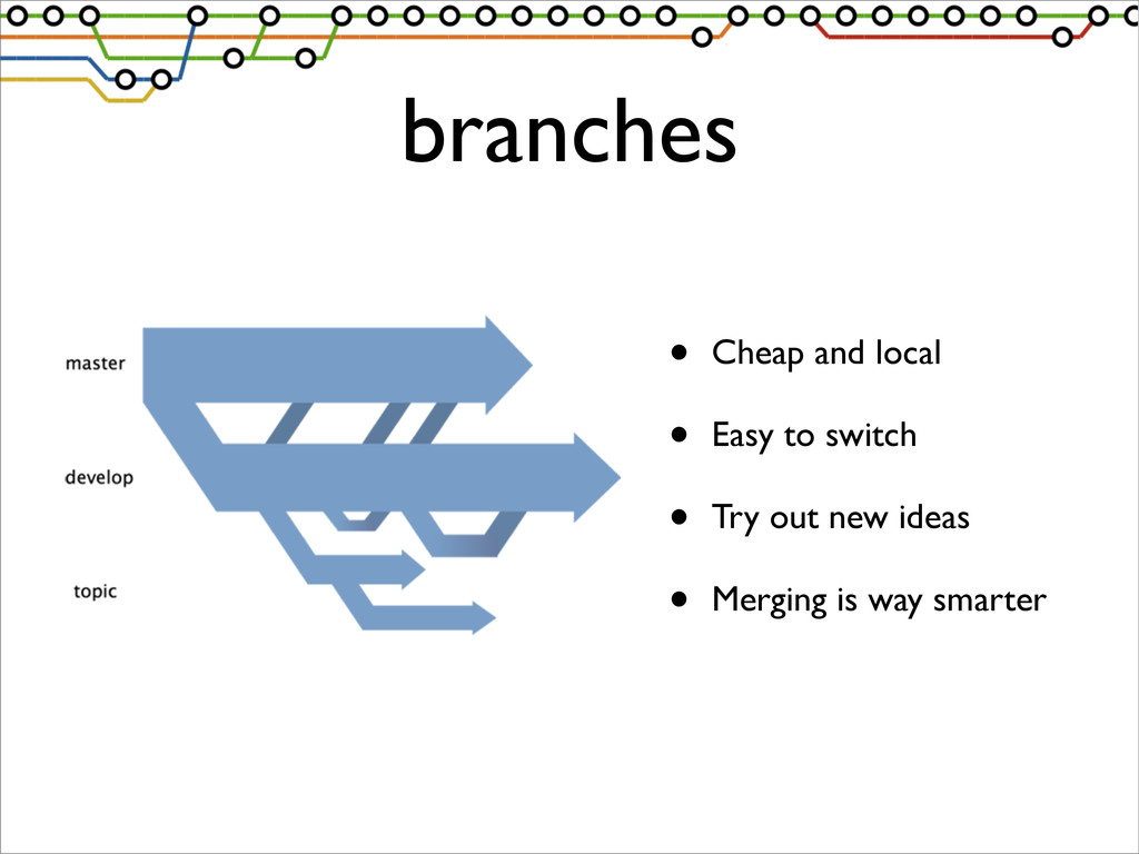 branches • Cheap and local • Easy to switch • T...