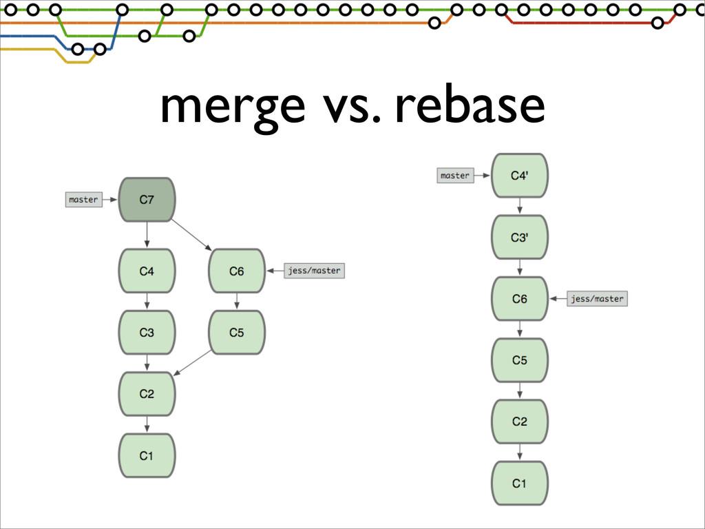 merge vs. rebase