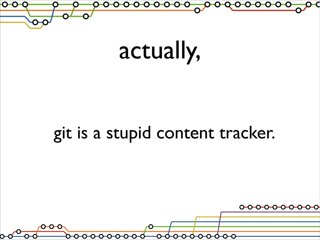 actually, git is a stupid content tracker.