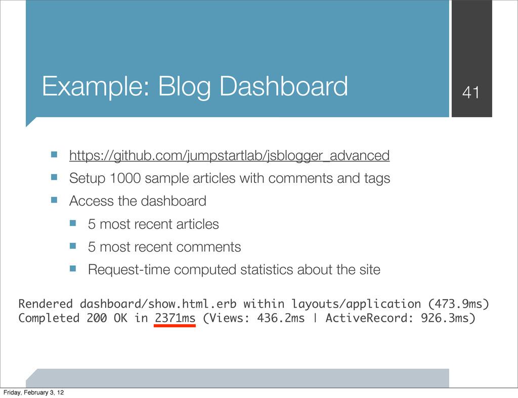 Example: Blog Dashboard ■ https://github.com/ju...