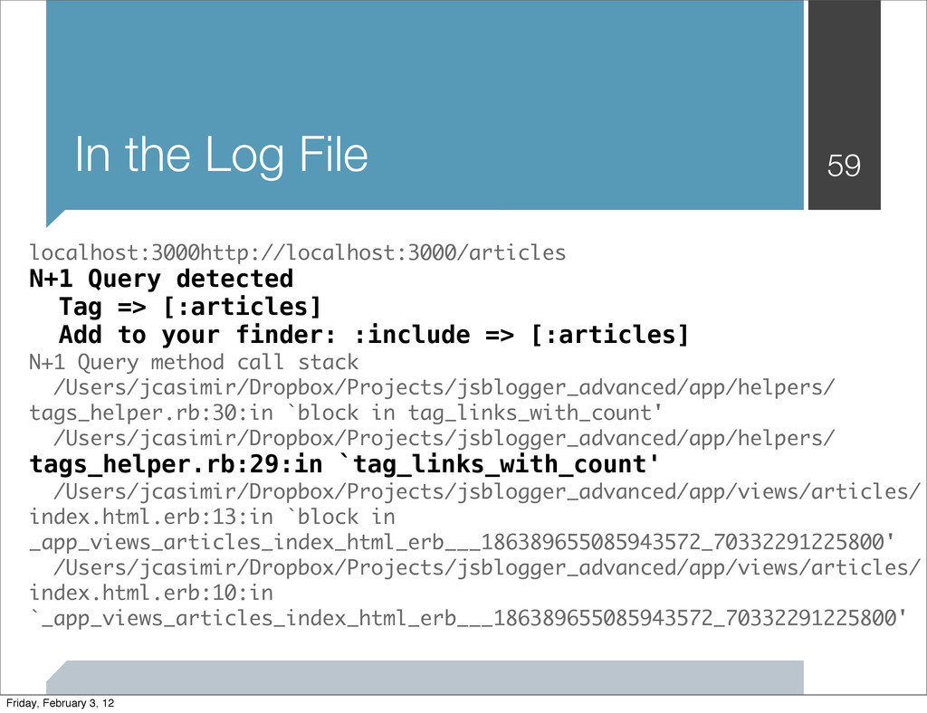 In the Log File 59 localhost:3000http://localho...