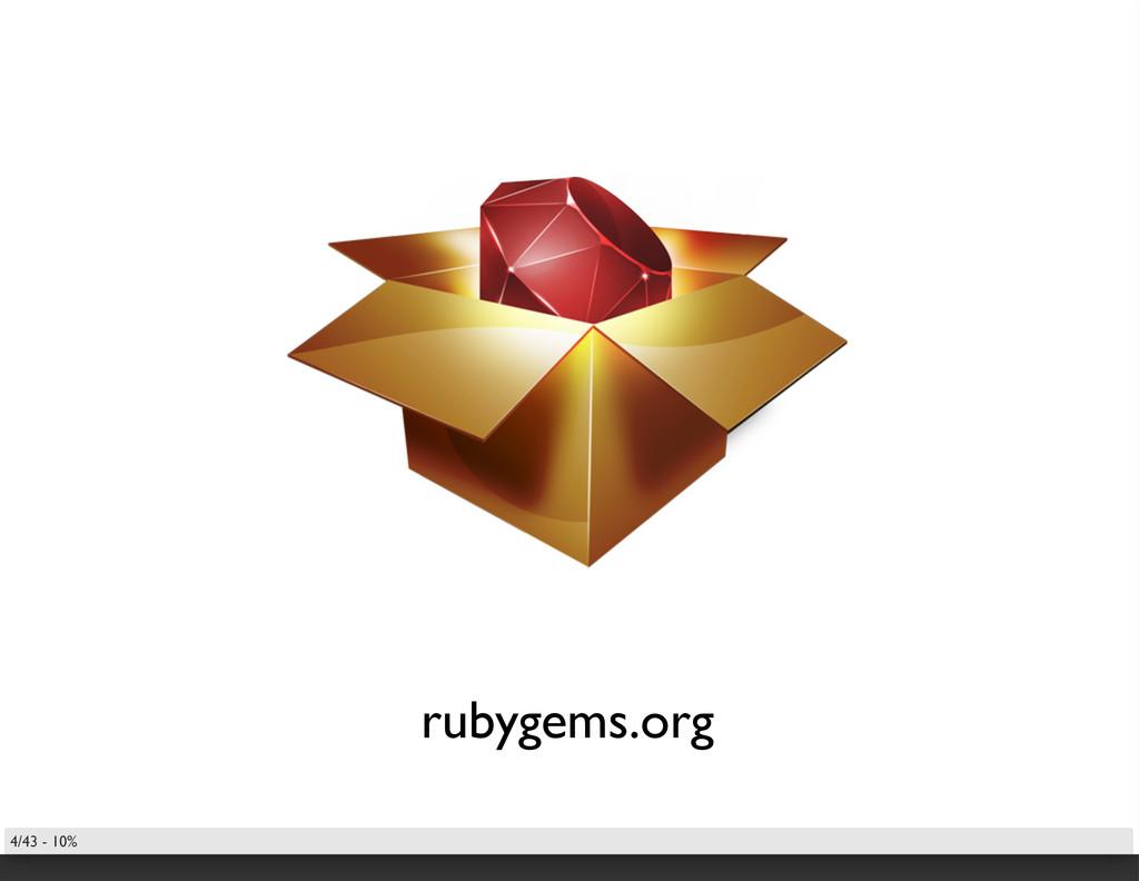 rubygems.org 4/43 - 10%