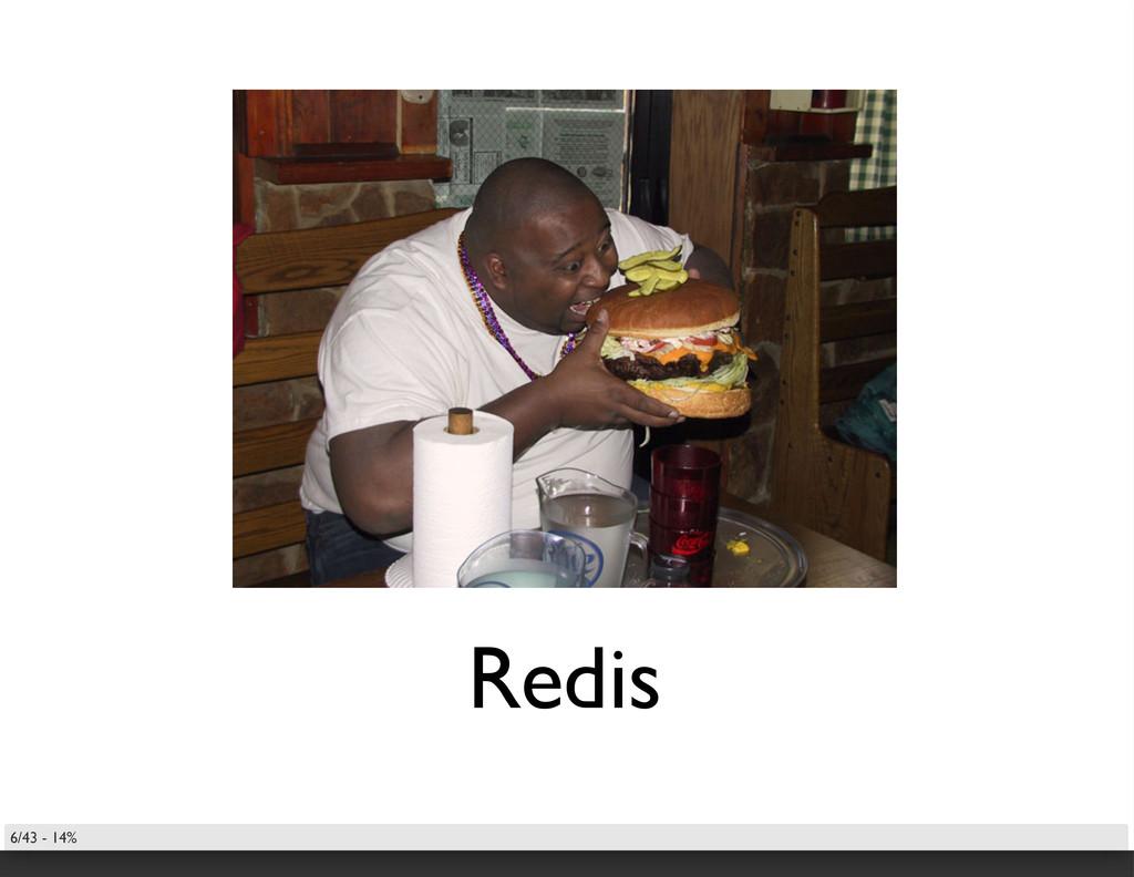 Redis 6/43 - 14%