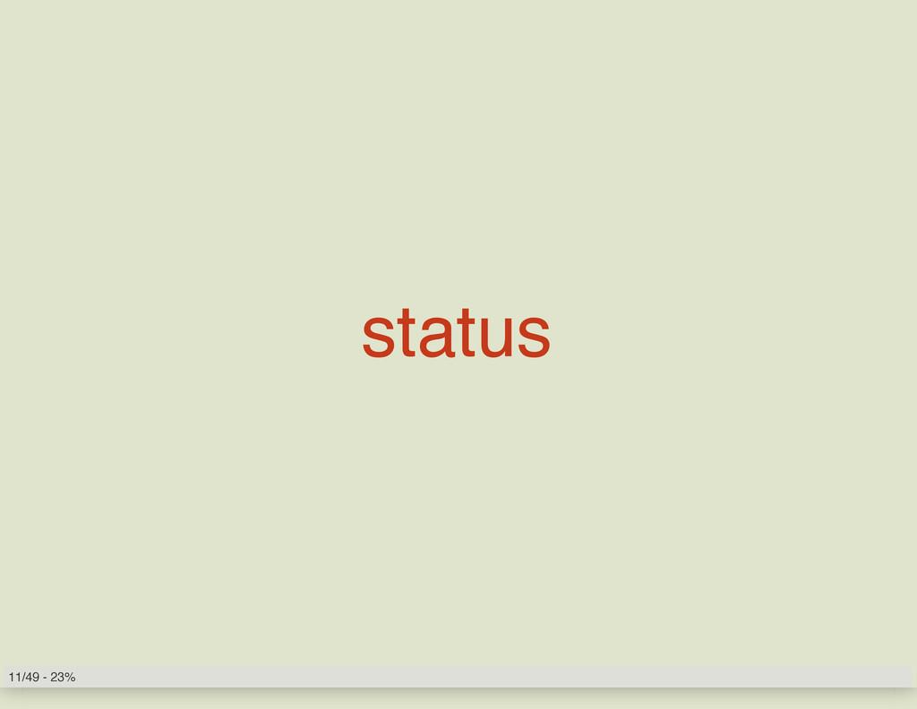 status 11/49 - 23%