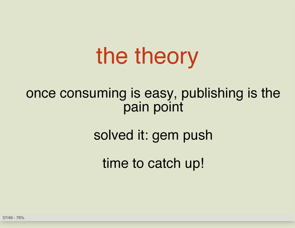 the theory once consuming is easy, publishing i...