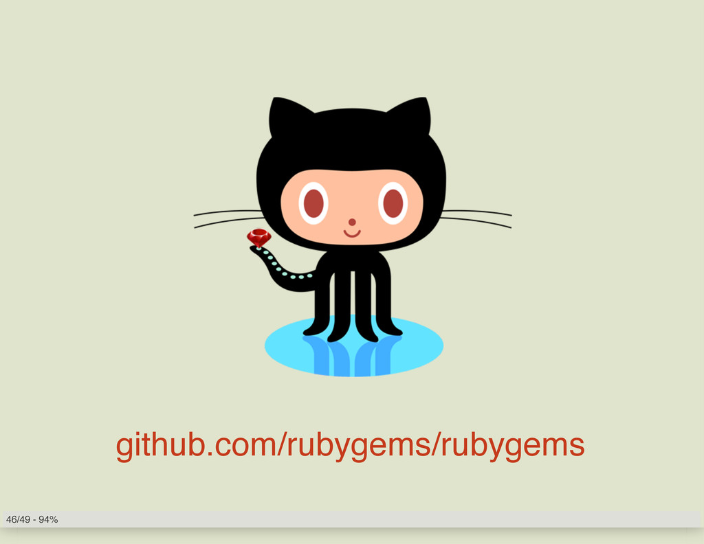 github.com/rubygems/rubygems 46/49 - 94%