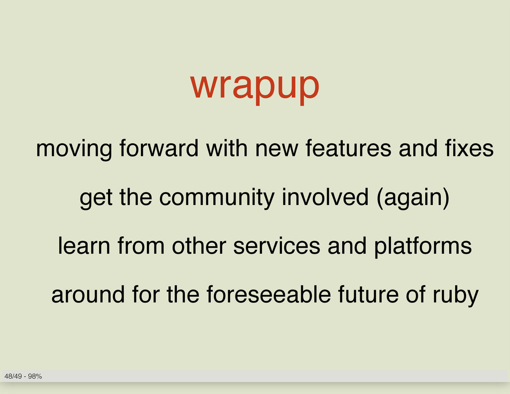 wrapup moving forward with new features and fix...