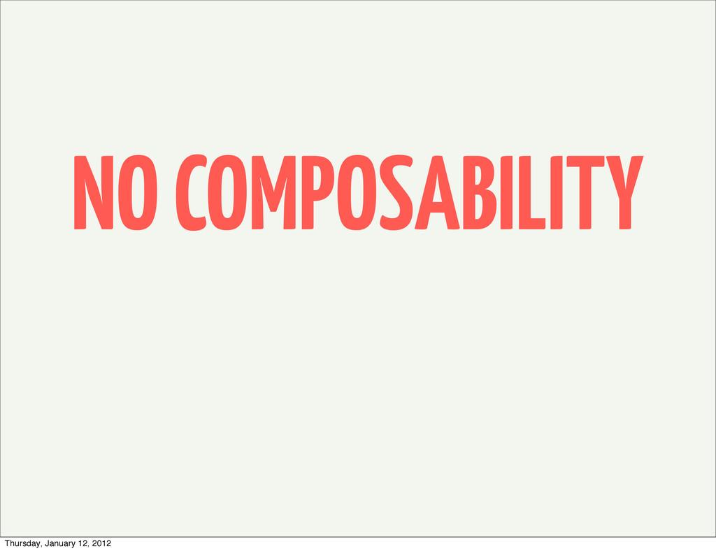 NO COMPOSABILITY Thursday, January 12, 2012