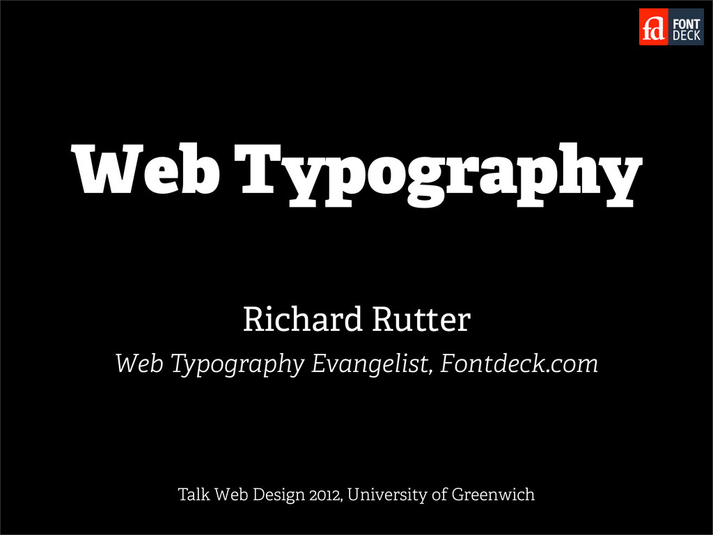 Web Typography Richard Rutter Web Typography Ev...
